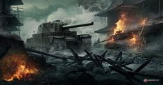 The Ballad of Flak Tower: Vitali Timkin is an artist who works at Wargaming, the studio behind World of Tanks. Click through to see more of his excellent work. Military Armor, Military Guns, Wold Of Tanks, World Of Tanks Game, Flak Tower, Tank Wallpaper, War Thunder, Armored Fighting Vehicle, Firearms
