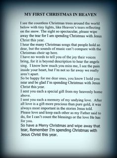 my first christmas in heaven poem - Yahoo Search Results Image Search Results Heaven Poems, Heaven Quotes, Faith Quotes, Bible Quotes, Rip Quotes, Qoutes, Crazy Quotes, Best Quotes, Missing My Dad Quotes