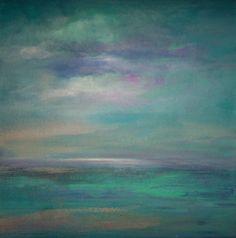 Blue Green Minimalist Land & Sea Canvas Original by sherischart, $100.00 https://www.esty.com/shop/sherischart Amazonite blue green minimalist land and seascape to sea ~~~~~~~~~~~~~~~