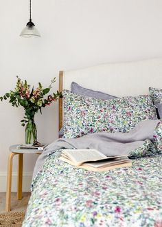 Liberty Print Bedding In Wild Flowers Super King Duvet Covers, King Size Duvet Covers, Double Duvet Covers, King Bedding Sets, Duvet Sets, Linen Bedroom, Linen Bedding, Bedroom Decor, Bed Linens