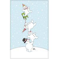 AG Balancing Snowmen - Christmas Card