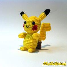 Pikachu Pokemon Character ~ Free Amigurumi Pattern ~ PDF Download http://www.ravelry.com/patterns/library/pikachu-pattern-crochet-amigurumi-pdf