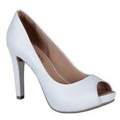 Sapato #PeepToe Ramarim  #Branco #Fashion #Shoes #Spring