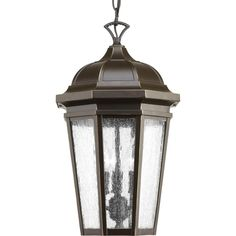 Verdae Collection 3 -Light Outdoor Antique Bronze Hanging Light