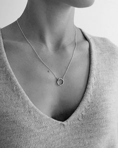 V&W Additions | Linden Cook Organic Circle stirling silver necklace. Hand made in Melbourne