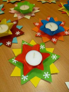 - Best DIY and Crafts Ideas Christmas Candle Decorations, Beautiful Christmas Decorations, Diwali Decorations, Christmas Activities, Christmas Crafts For Kids, Diy Christmas Ornaments, Christmas Art, Christmas Projects, Handmade Christmas