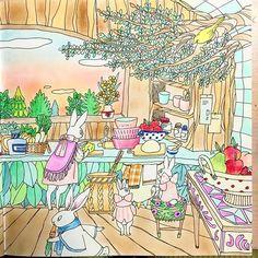 Instagram media ku._.uchan - #大人の塗り絵 #塗り絵 #コロリアージュ #森の生き物と素敵なおうちの暮らしぬりえブック #kuuchan森の生き物と素敵なおうちの暮らしぬりえブック 右ページ