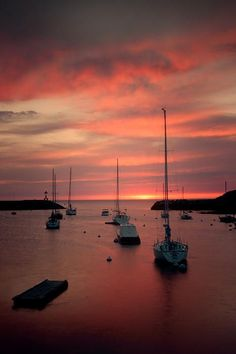 Sunrise at Rockport, Maine Harbor. We got up early to see this on our return home.