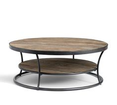 on rug in media lounging area ,Bartlett Coffee Table   Pottery Barn