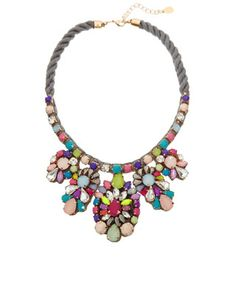 Cosmic Flower Statement Necklace | Multi | Accessorize