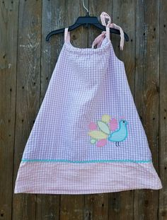 Stellybelly Size 3T Toddler Girl's Seersucker Dress Cotton Pastel Peacock  #Stellybelly