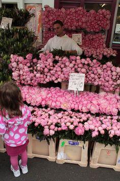 Columbia Road flower market.