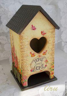 """""""Домик моей мечты"""" - бежевый,чайный домик,домик для чая,чайный доми с сердечком"""