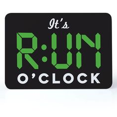 Running Desk Art - It's RUN O'Clock