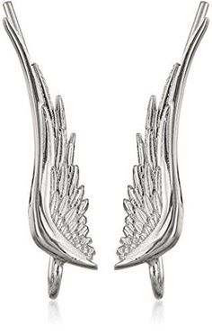"The Ear Pin Sterling Silver ""Whispering Angel Wings"" Earrings -- Check out this great product."