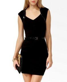 vestido negro corto sin mangas forever 21