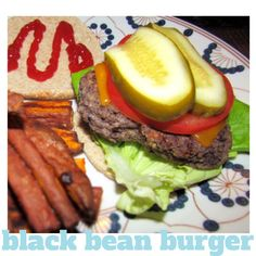 black bean burger from www.laircake.com