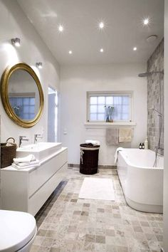 Like the way the tones blend in this bath. Stone Bathroom, Laundry In Bathroom, House, Cosy Interior, House Styles, Kitchens Bathrooms, Luxury Bathroom, Bathroom Decor, Bathroom Inspiration