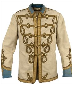 "John Lennon's original jacket worn in 1967 and inspired The Beatles ""Sgt Pepper"" uniforms."