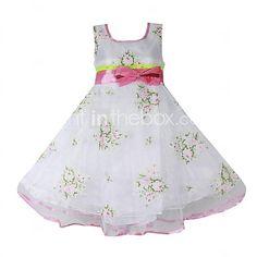 meisje bloemenprint 3 lagen buigen partij bruiloft optocht mooie prinses jurken - EUR €17.63