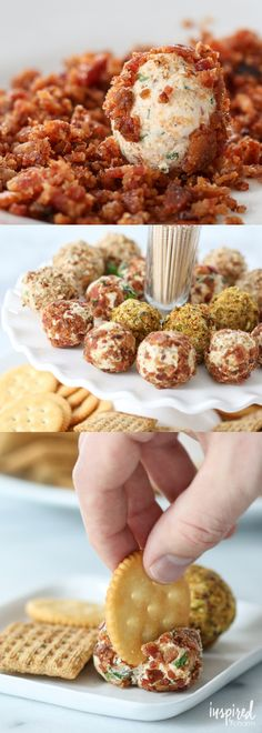 Cheese Truffles - aka Mini Cheese Balls - great Christmas holiday appetizer recipe.