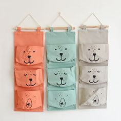 """Universe of goods - Buy """"JULY'S SONG Hanging Storage Bag Dog Pattern Wall Mounted Hanging Organizer Makeup Cosmetic Sundries Organiser Container Box Bags"""" for only USD. Shoe Storage Bags, Linen Storage, Toy Storage, Fridge Storage, Storage Baskets, Wall Storage, Hanging Wall Organizer, Pocket Organizer, Home Organizer"""