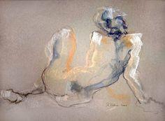 Stéphanie (Painting), cm by Raluca Vulcan Pastel sec sur papier Male Figure Drawing, Life Drawing, Figure Drawings, Figure Painting, Painting & Drawing, Art Et Illustration, Art Illustrations, Art Original, Pastel Drawing