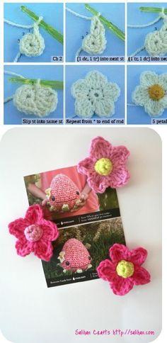 free flowers crochet pattern