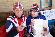 Pin for Later: Will and Kate Sent Breakfast Treats to Superfans Camped Outside the Hospital  Terry Hutt and John Loughrey enjoyed some pastries courtesy of the royal couple.