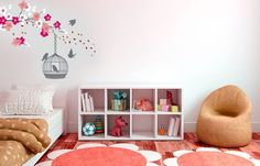 Create a Spring garden against your wall. Nursery Decor, Bedroom Decor, Spring Blossom, Vinyl Wall Art, Spring Garden, Wall Stickers, Bean Bag Chair, Beautiful Homes, Kids Rugs