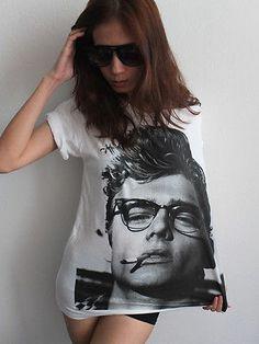 James Dean Icon Movie Actor Exit Juniors V-Neck T-Shirt Tee