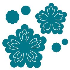 These blossoms are so unique and look fantastic alone or layered with multi-color materials. Use them to adorn your albums, cards, boxes and more. Make beautiful felt flowers and create a fabulous necklace, pin or headband. Giant Paper Flowers, Felt Flowers, Diy Flowers, Spring Flowers, Leaf Template, Flower Template, Templates, Flower Crafts, Flower Art
