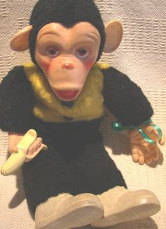 Stuffed Monkey. My grandmother had one of these. I played with him all the time. One of my favorite toys. I loved him.