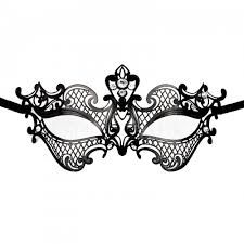 masquerade mask template divine metal lace silver and white