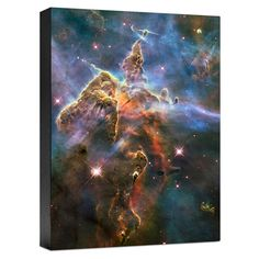 HUBBLE IMAGE CANVAS PRINT: VISIBLE VIEW OF PILLAR AND JETS HH 901/90 CANVAS PRINT