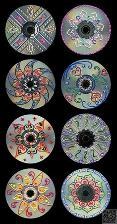 3. Art CD - 35 #façons de recycler de #vieux CD... → DIY: