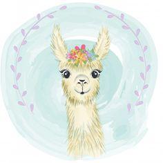 Felice Premium piccolo lama sorridente v. Alpacas, Baby Llama, Cute Llama, Nursery Canvas, Canvas Art, Canvas Prints, Llama Drawing, Llama Pictures, Baby Animals