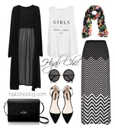 A fashion look from October 2015 featuring chiffon tops, white tank and pull on skirts. Browse and shop related looks. Maxi Outfits, Outfits Mujer, Hijab Outfit, Modest Outfits, Classy Outfits, Chic Outfits, Fashion Outfits, Islamic Fashion, Muslim Fashion