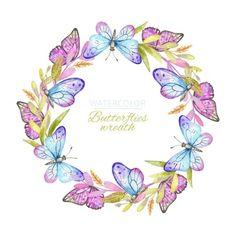 Excellent collection of butterflies Vector Butterfly Background, Butterfly Logo, Butterfly Watercolor, Butterfly Wallpaper, Floral Watercolor, Illustration Papillon, Leaf Illustration, Butterfly Illustration, Art Papillon