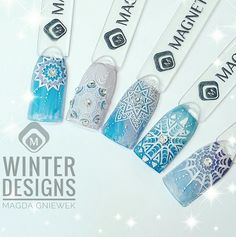Winter Designs with stamping plate Free Mandala!