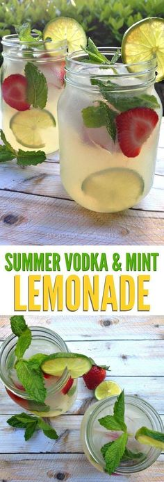 Refreshing summer vodka mint lemonade cocktail recipe, the perfect adult drinks for entertaining on those warm summer days! #cocktailrecipes