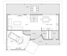 Small House Plan CH95, Affordable home floor plan.