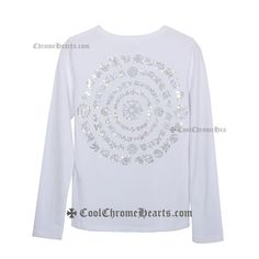 27d94d2ea336 Diamonds Big Crosses White Long Chrome Hearts T-Shirt