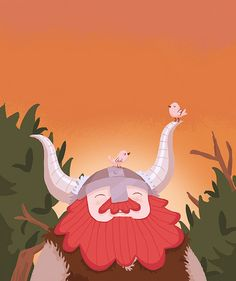 Who could begrudge such a happy viking? Illustration by AntiMax. Viking Baby, Epic Beard, Stone Island, Art Pages, Olaf, Clipart, Doll Toys, Scouts, Tigger