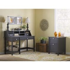 Shop for Broadview Computer Desk with Open Storage, Organizer and File Cabinet. Get free delivery at Overstock.com - Your Online Office Furniture Store! Get 5% in rewards with Club O! - 17744163