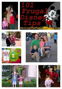 101 Frugal Disney Tips ~ Activities, Sites and Entertainment http://savingthefamilymoney.com/101-frugal-disney-tips-activities-sites-and-entertainment/