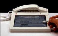 The first iPhone was actually dreamed up in 1983. Forget that silly old touchscreen, this iPhone was a landline with full, all-white handset and a built-in screen controlled with a stylus.