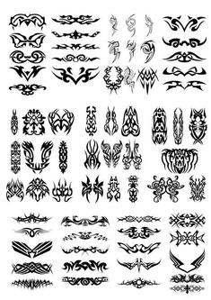 Tattoo tribal CDR DXF SVG Vector Layered Cut File Silhouette Cameo Cricut Design Template Stencil Vinyl Decal Tshirt Heat Transfer by MonomShop on Etsy