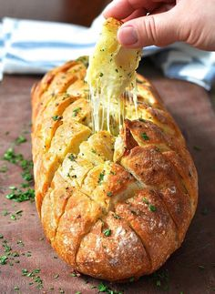 Cheese and Garlic Crack Bread (Pull Apart Bread) http://www.recipechart.com/recipes/bread-recipes/cheese-and-garlic-crack-bread-pull-apart-bread