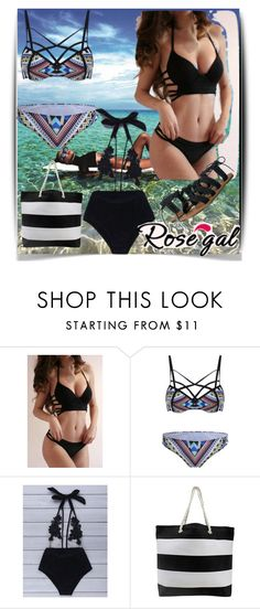 """""""Rosegal 16"""" by samra-bv ❤ liked on Polyvore featuring Le Specs, Billabong, Summer, rosegalswimwear and perfectbikini"""